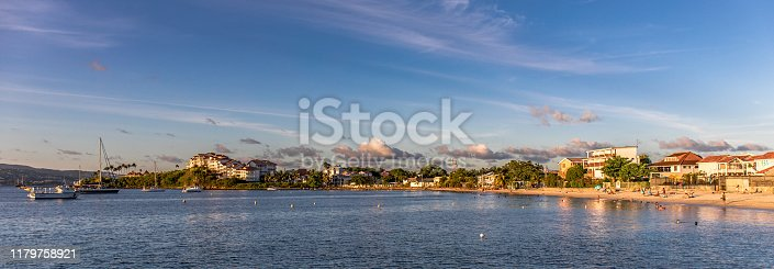 Les Trois-Ilets, Martinique, FWI - Anse Mitan beach panorama