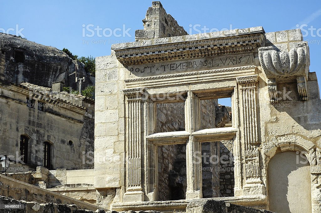 Les-Baux-de-Provence (France) - Ruins royalty-free stock photo