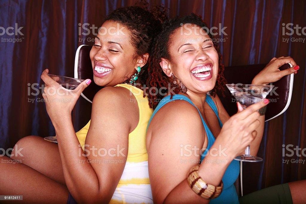 Lesbian couple having fun stock photo