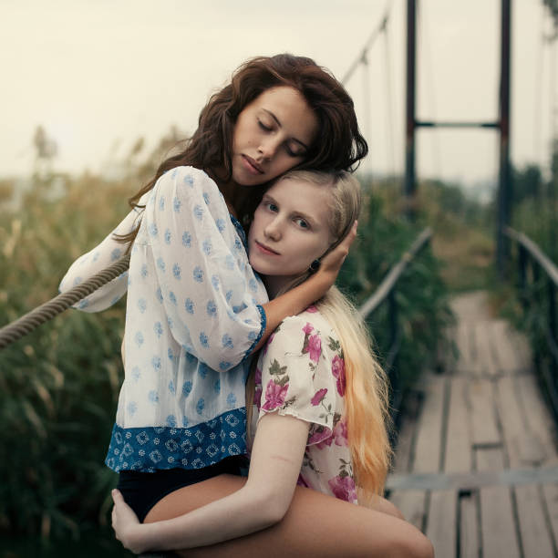 Best Beautiful Lesbian Girls Stock Photos, Pictures