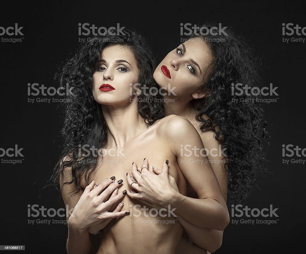 Two Girls Touching Lesbian