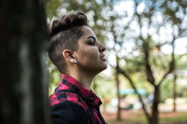 Lesbian woman Portraits transgender stock pictures, royalty-free photos & images
