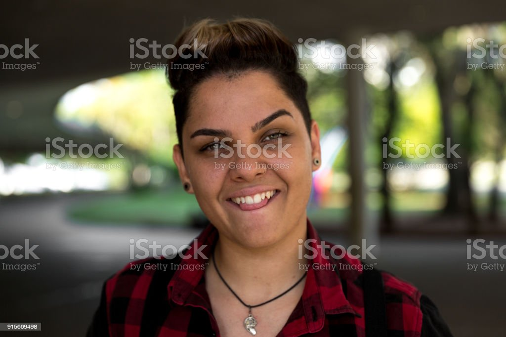 Lesbian woman stock photo