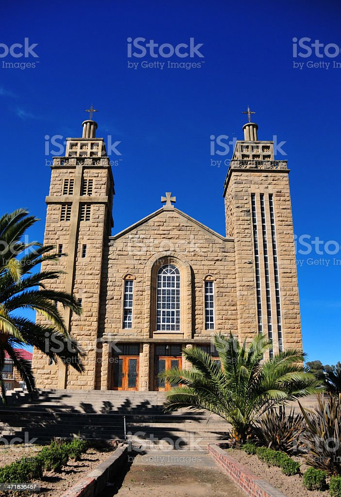 Lesotho, Maseru - Our Lady of Victory Cathedral royalty-free stock photo
