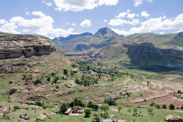 Lesotho: The Mountain Kingdom in Africa stock photo