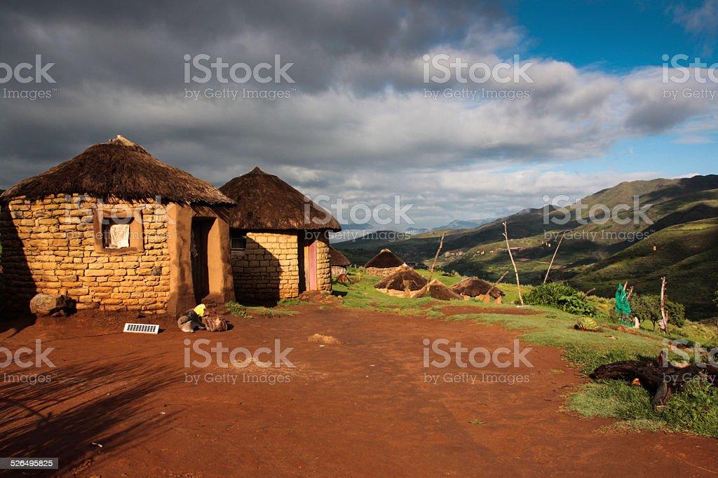 Lesotho Village stock photo