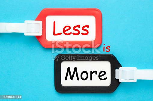 istock Less is More 1065601614