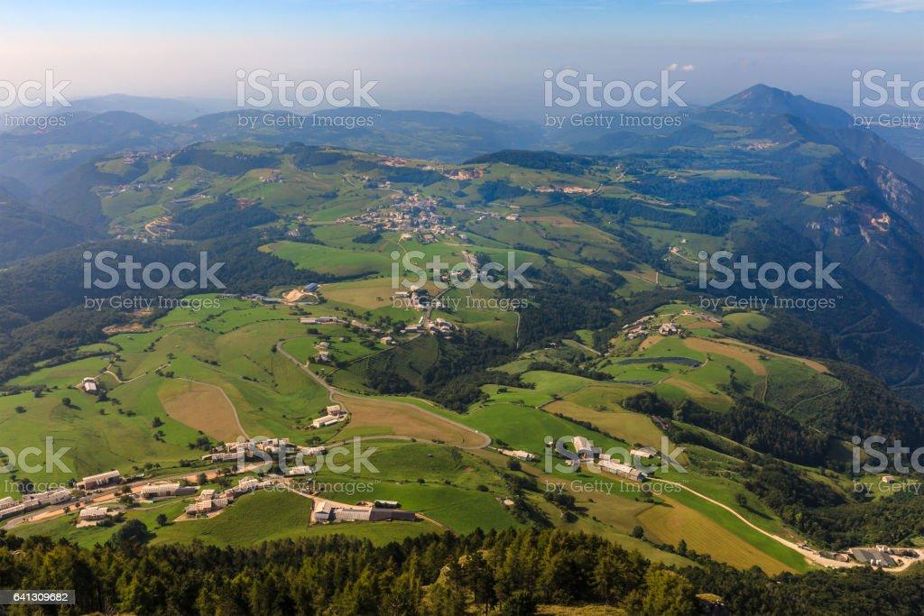 Lessinia Landscape, Verona, Italy stock photo