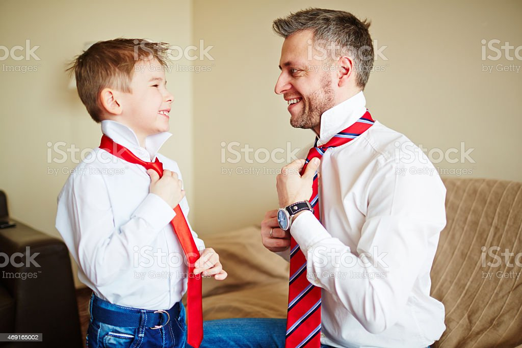 Lesson from father stock photo