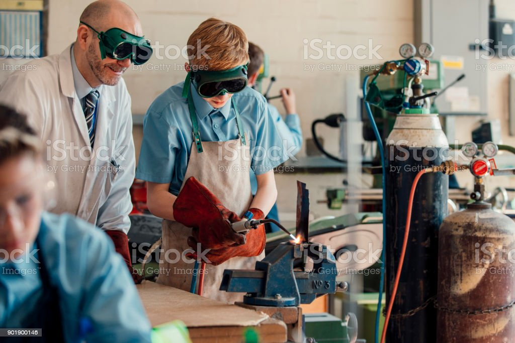 STEM Lesson In School stock photo