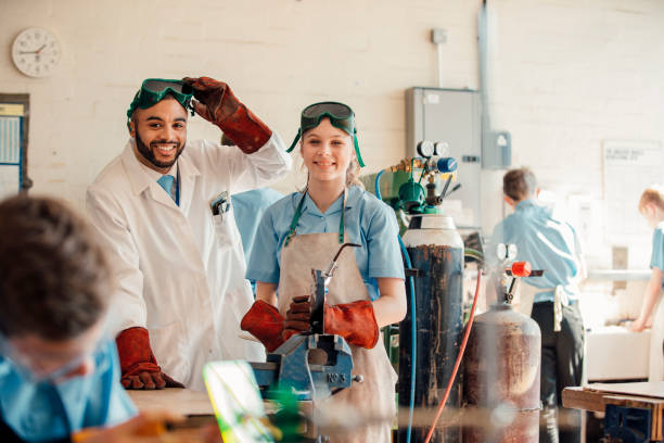 STEM Lesson In School stock photo