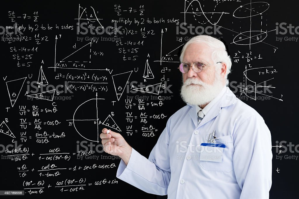 Lesson of maths stock photo