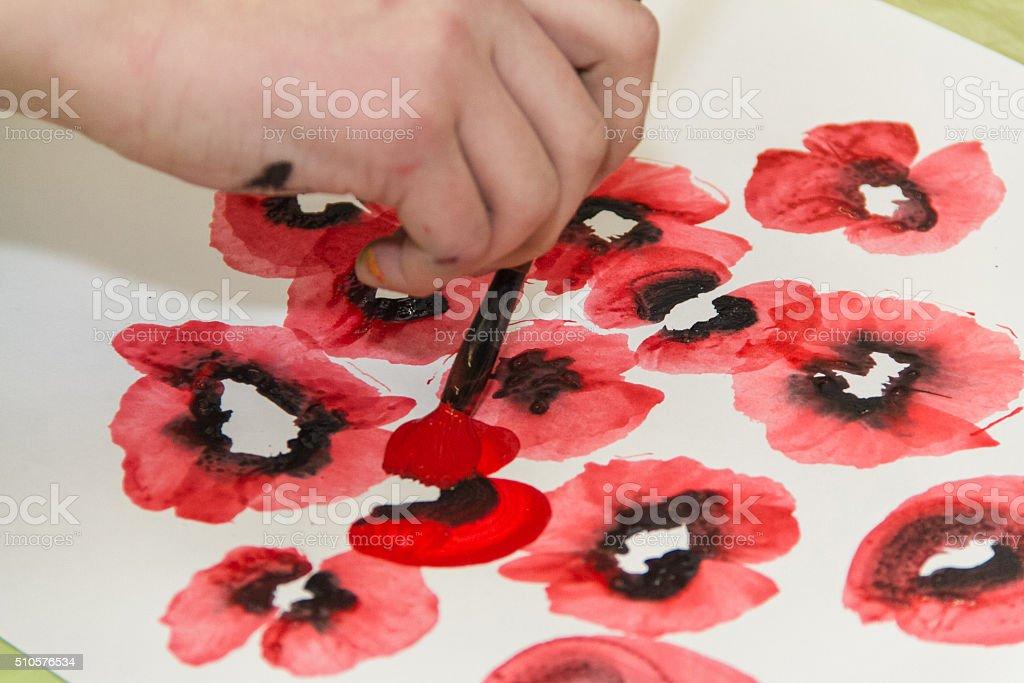 Foto De Aulas De Desenho De Flores Tintas Guache E Mais