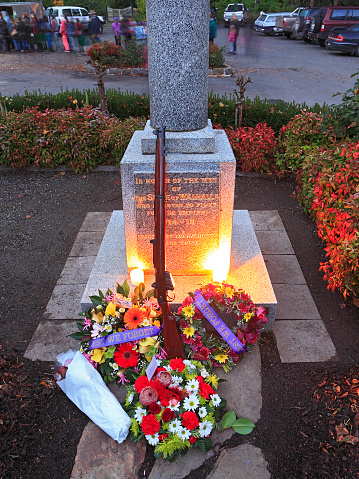 """""""Lest We Forget"""", Anzac Day memorial in small community"""