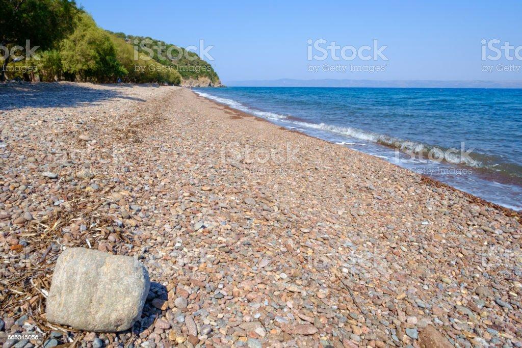 Lesvos Kagia beach stock photo
