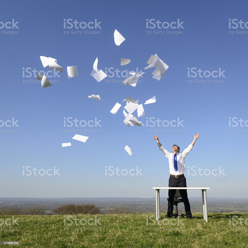 Let freedom ring from paperwork royalty-free stock photo
