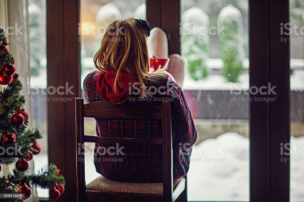 Let it snow stock photo