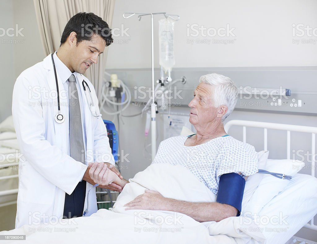 Let me check your heart rate... royalty-free stock photo