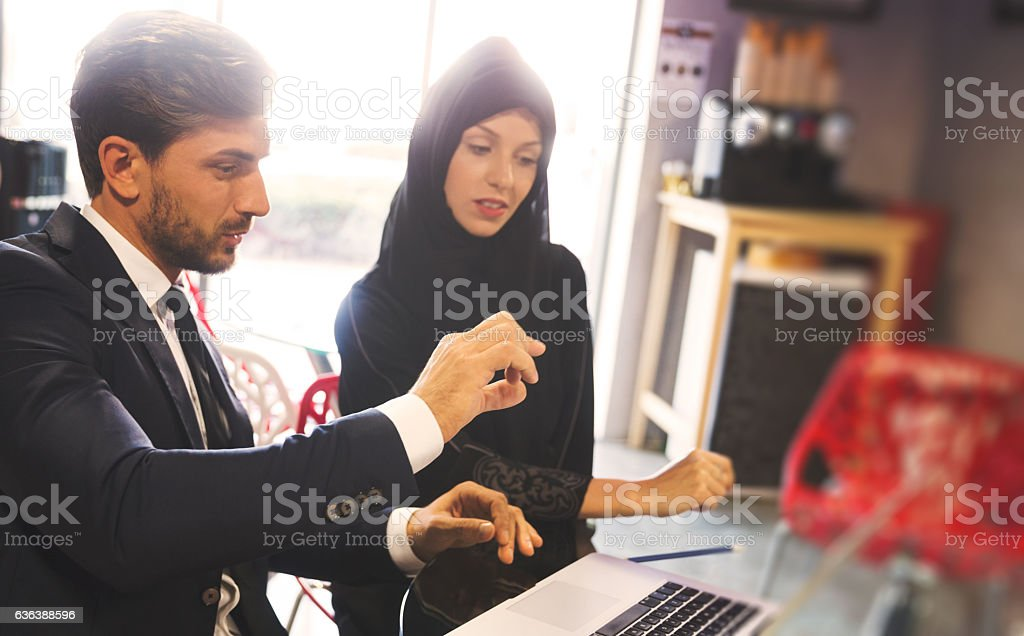 Let me explain how the new software works stock photo