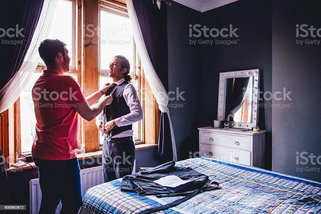Let Me Fix Your Tie stock photo