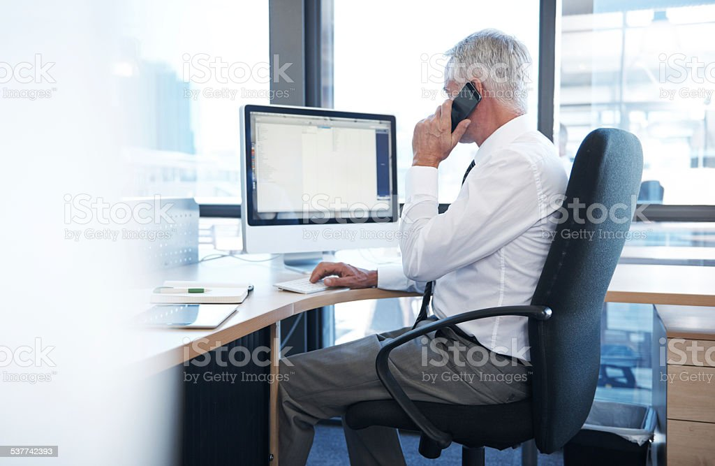 Let me get back to you later... stock photo