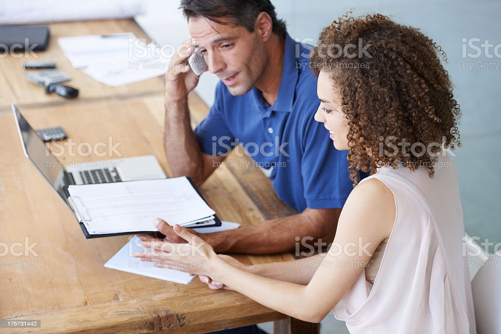 Let me give the client a call stock photo