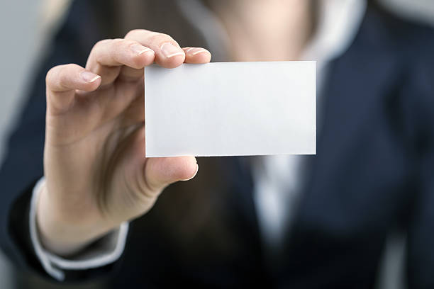 let me introduce myself - business card stock photos and pictures