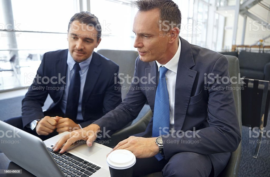 Let me outline the contract with you royalty-free stock photo