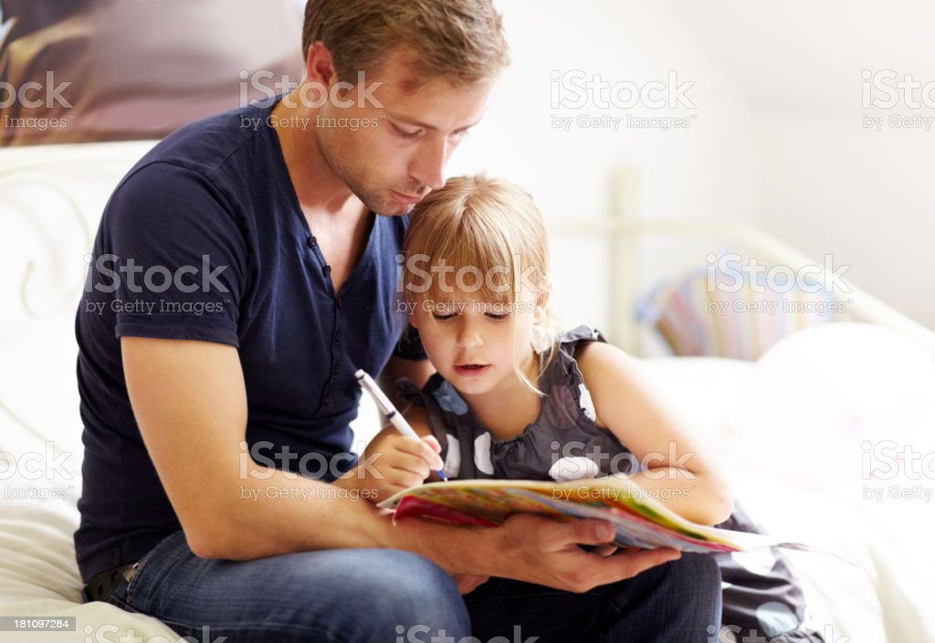 Let me show you dad... royalty-free stock photo