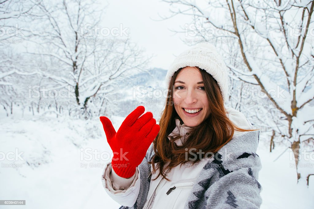 Let me show you something stock photo