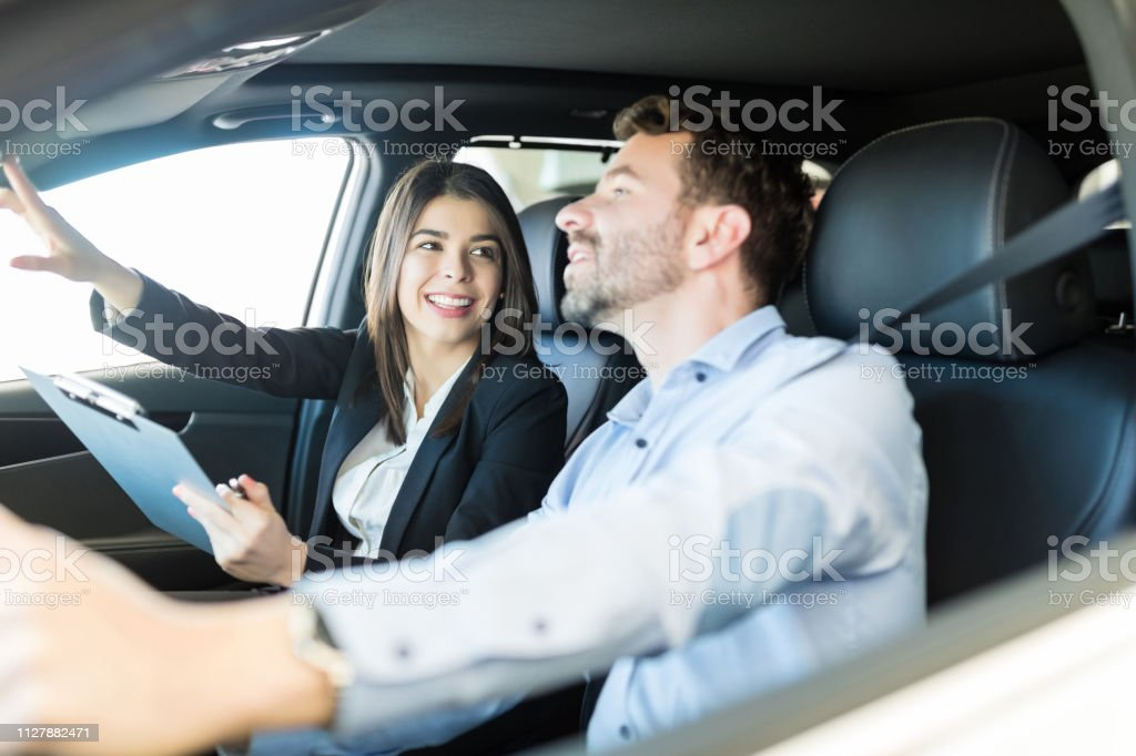 Let Me Show You The Advantages Of This Car Model stock photo