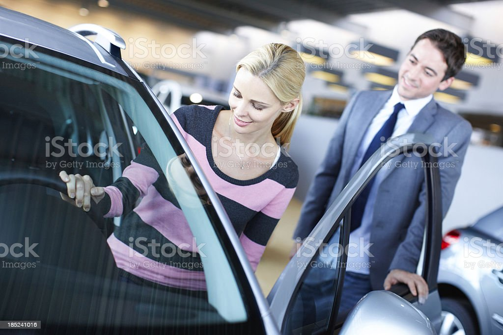 Let me try this one - Car Shopping royalty-free stock photo