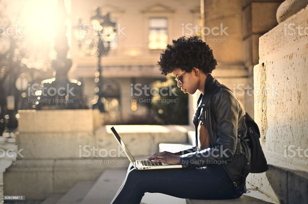 Let Me Work stock photo