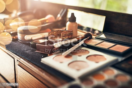 Shot of a collection of makeup