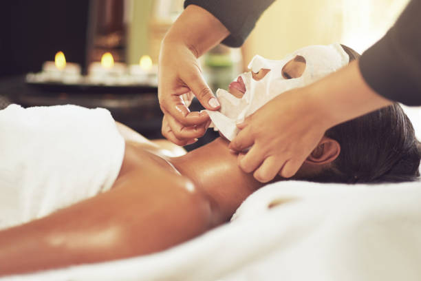 let the beautification begin - chemical peel stock pictures, royalty-free photos & images