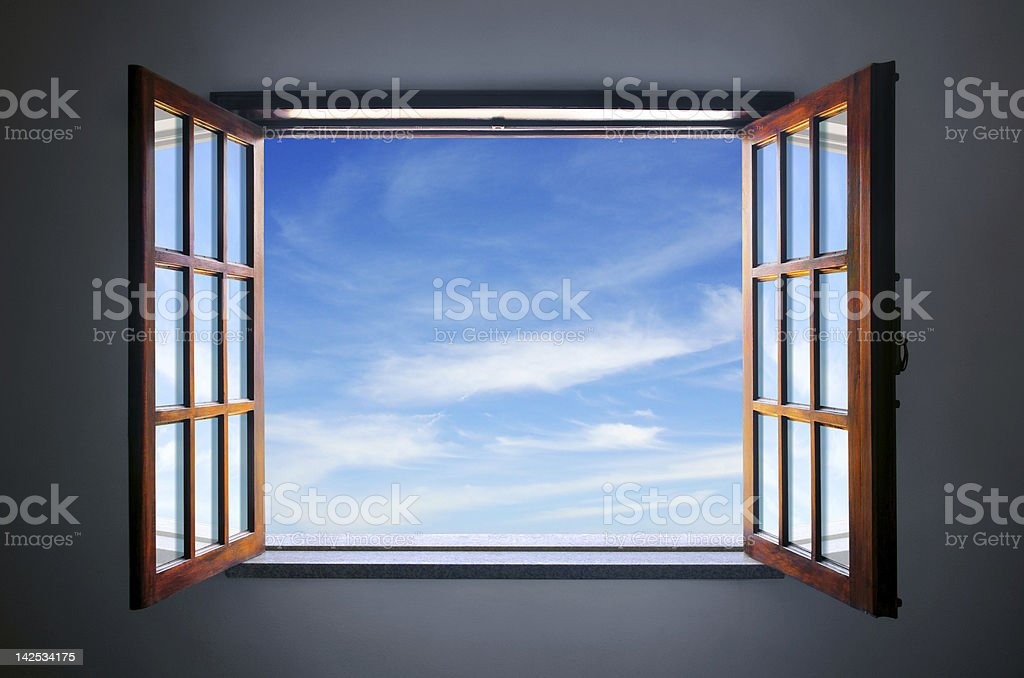 Let the blue sky in stock photo