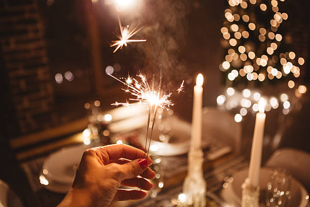 deixe as festas de fim de ano começa - luz da vela - fotografias e filmes do acervo