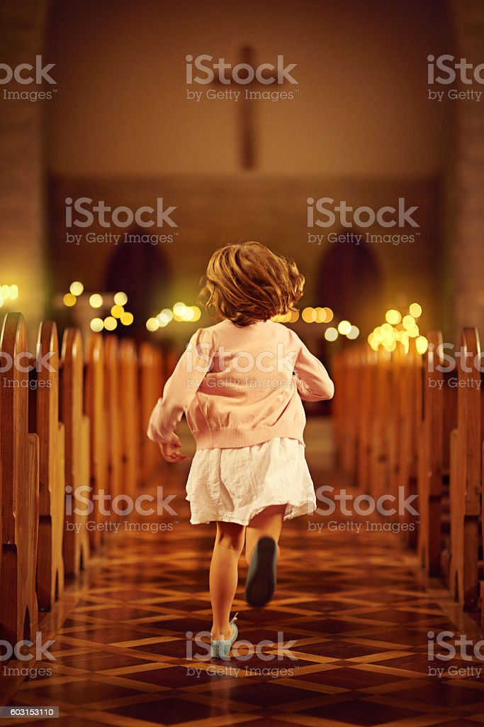 Let the little children come to me stock photo