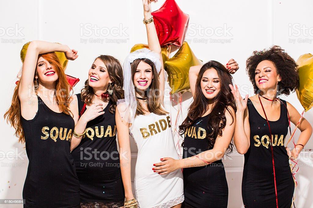 Let the party begin girls - foto de stock