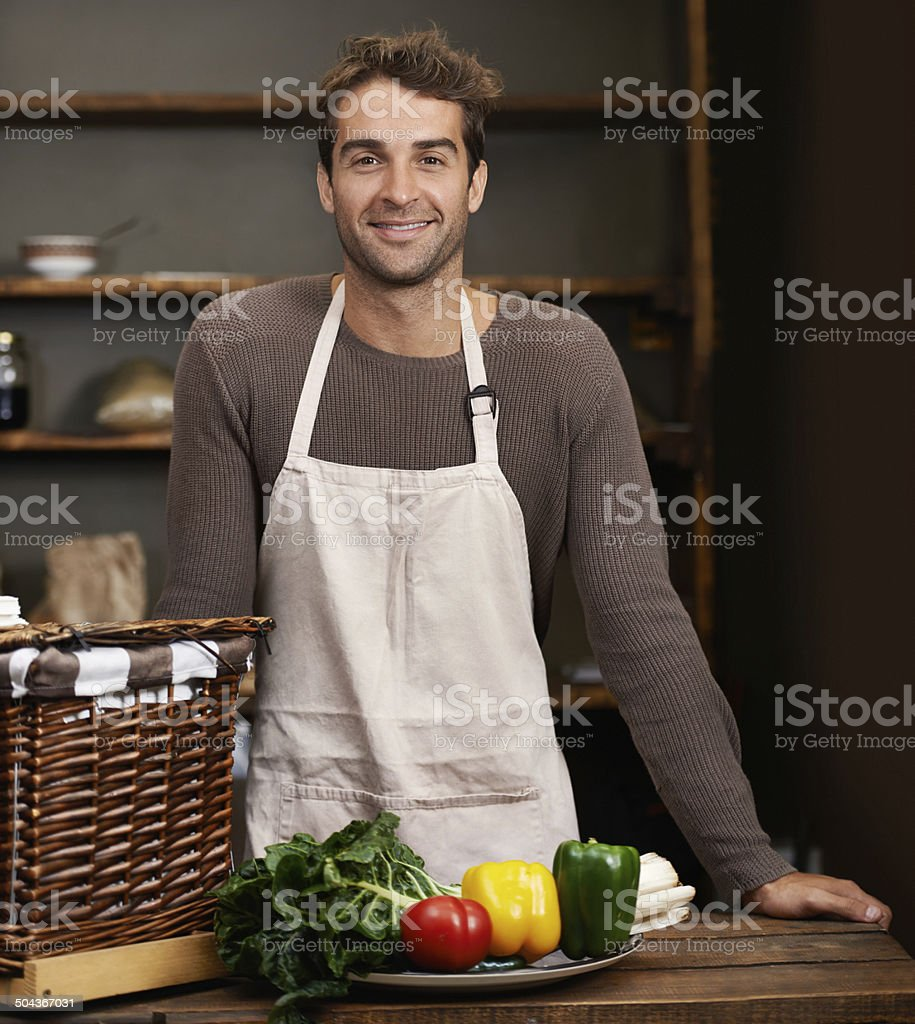 Let the preparation begin! stock photo