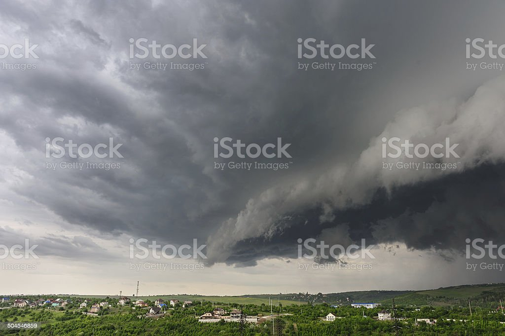 Let the storm begins stock photo