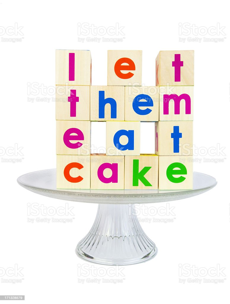 Let Them Eat Cake royalty-free stock photo