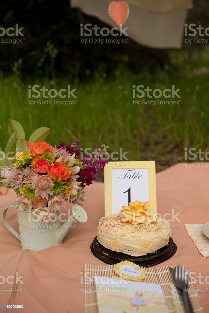 Let them eat cake stock photo