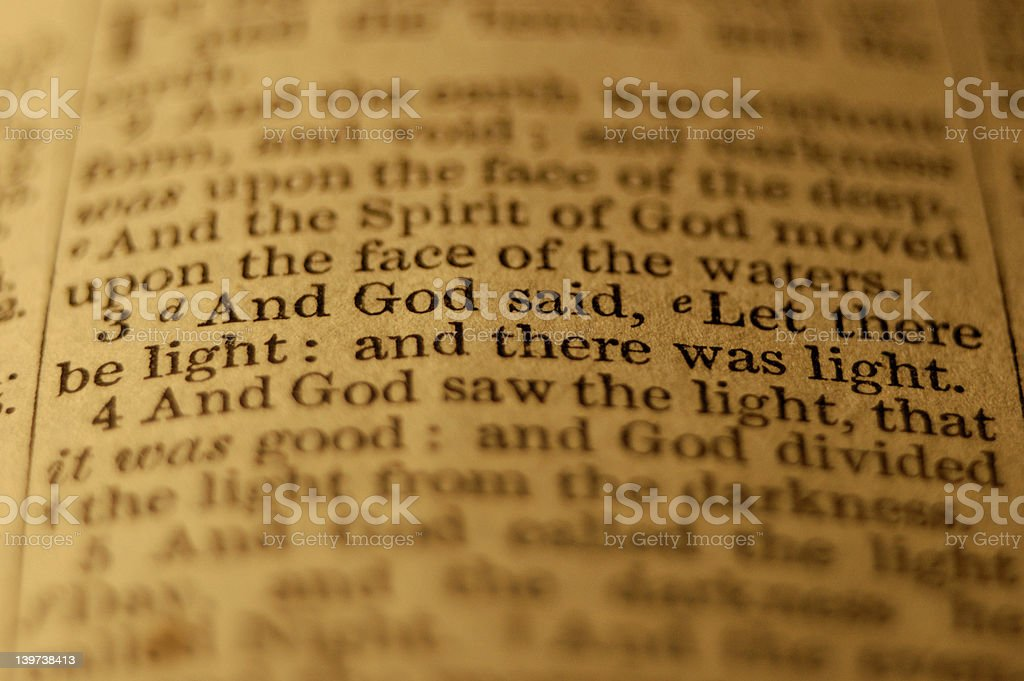 Let there be light ... stock photo