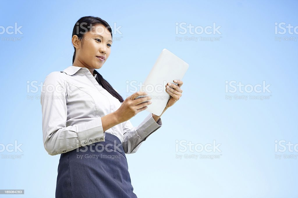 Let this copyspace touch your future clients royalty-free stock photo