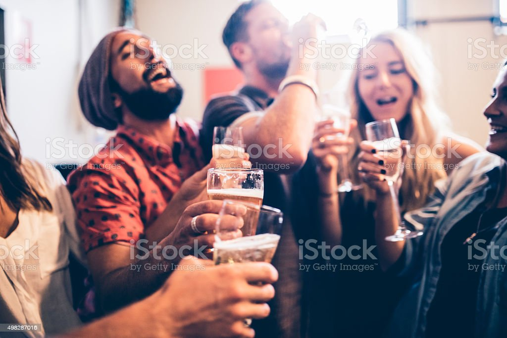 Let this party never end! stock photo