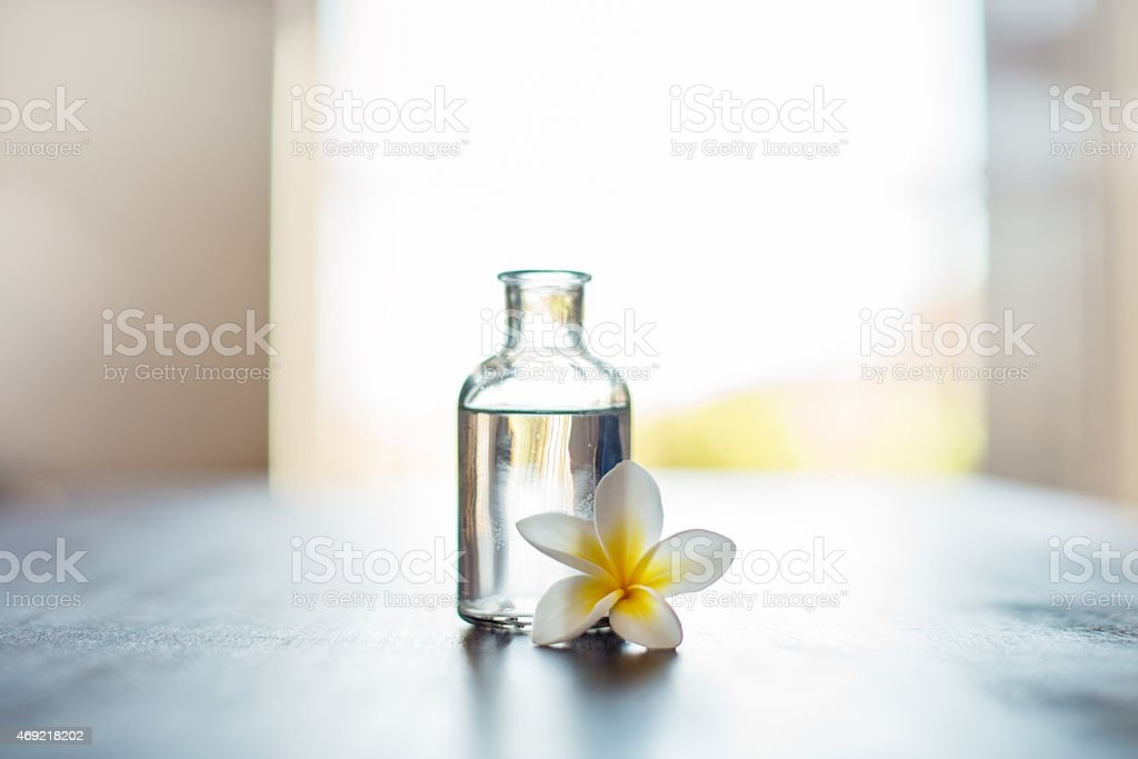 Let thy oils be thy medicine stock photo