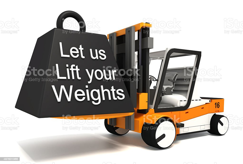 let us lift your weights stock photo