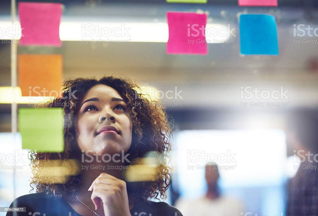 Let your brain be your best friend when problem solving stock photo