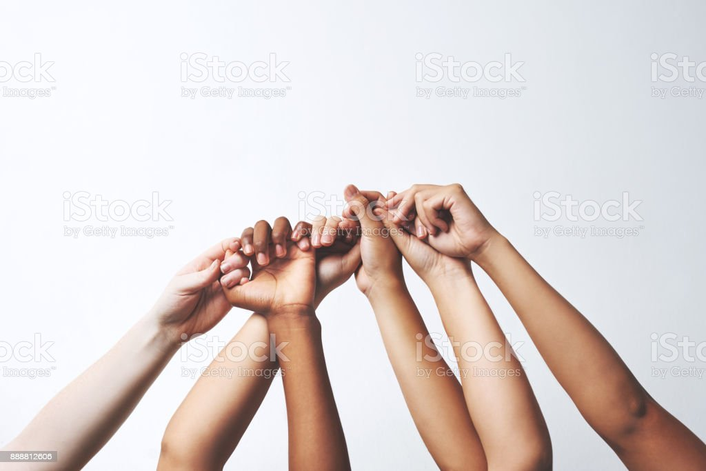 Let your hands do the talking stock photo